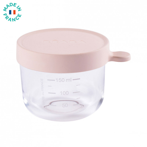 Béaba Pot de Conservation 150ml en Verre Rose