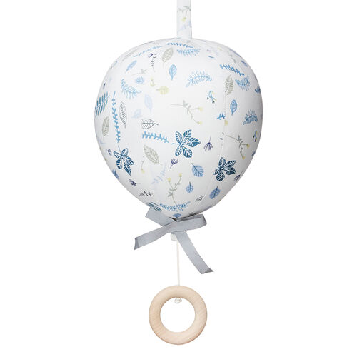 CamCam Mobile Musical Ballon Pressed Leaves Bleu