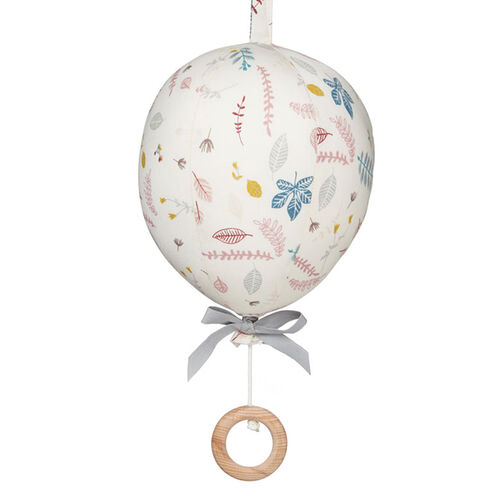 CamCam Mobile Musical Ballon Pressed Leaves Rose