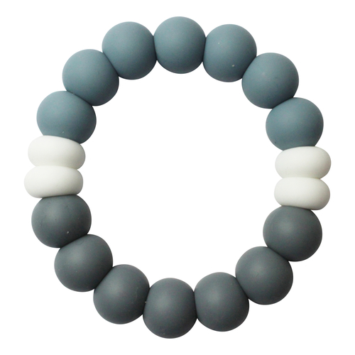 CHEWIES AND MORE Anneau de Dentition Duo Cool GRIS FONCE / DUSTY BLUE