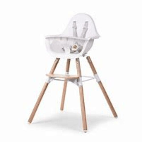 Childhome Chaise Haute Evolu 2 Naturel Blanc