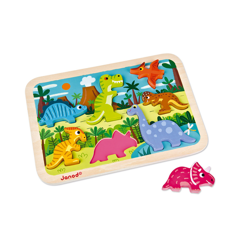 Janod Chunky Puzzle Dinosaures