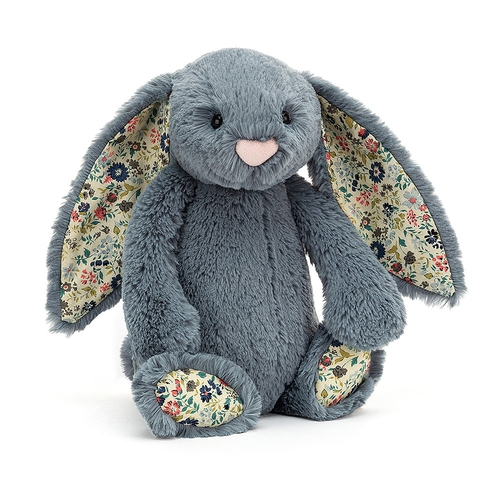 Jellycat Doudou Lapin Bashful Liberty Small Dusky Blue