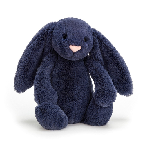 Jellycat Doudou Lapin Bashful Small Navy