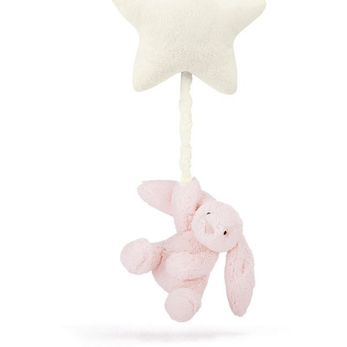 Jellycat Etoile Musicale Lapin Basfhul Rose Clair