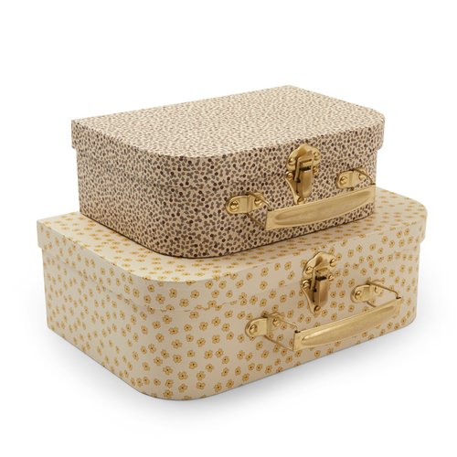 Konges Slojd Set de 2 Valises Buttercup Yellow / Rosarie