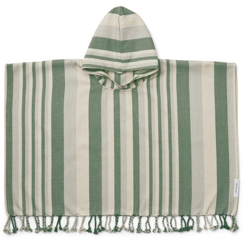 Liewood Poncho Roomie Garden Green / Sandy / Dove Blue