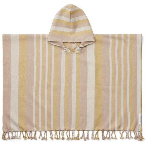 Liewood Poncho Roomie Peach / Sandy / Mellow Yellow