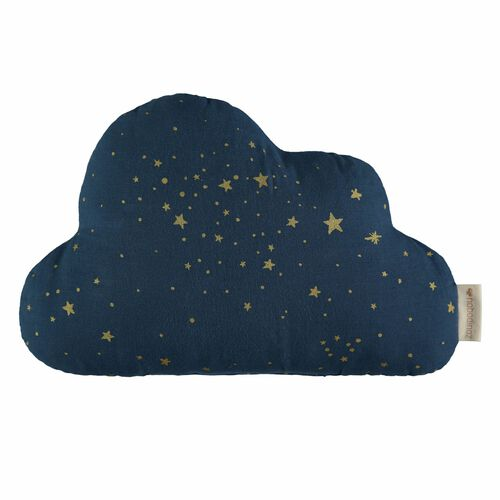 Nobodinoz Coussin Cloud Gold Stella/ Night Blue