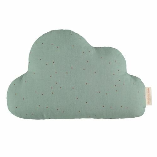 Nobodinoz Coussin Cloud Toffee Sweet Dots/ Eden Green