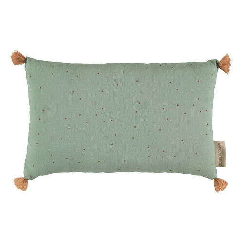 Nobodinoz Coussin Sublim Toffee Sweet Dots/Eden Green