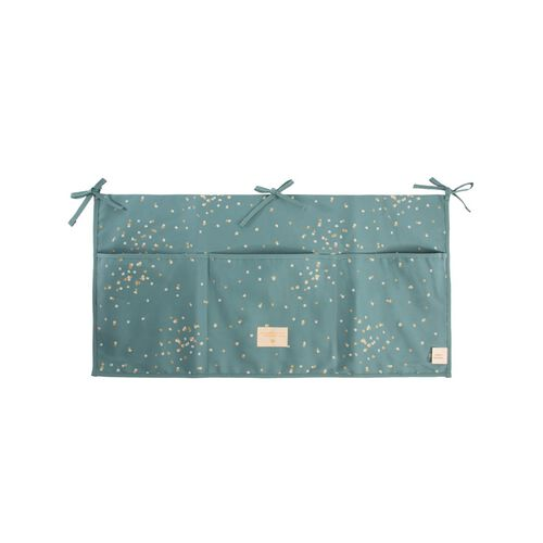 Nobodinoz Organisateur de Berceau Merlin Gold Confetti/ Magic Green