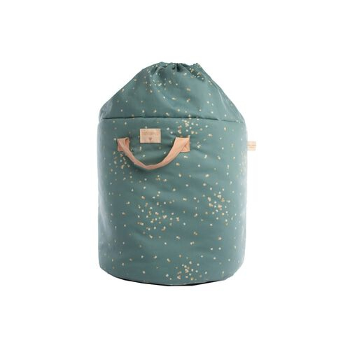 Nobodinoz Sac de rangement Bamboo Small Gold Confetti/ Magic Green