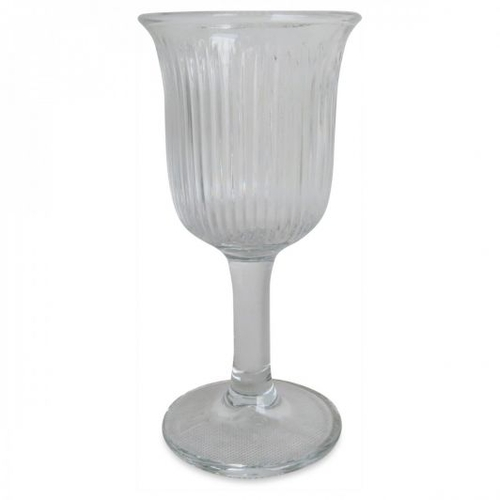 Opjet Verre A Pied Jules Blanc