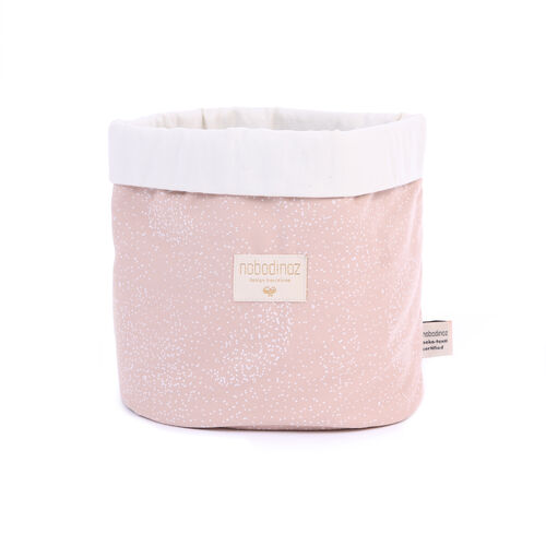 Panier panda White Bubble/ Misty Pink