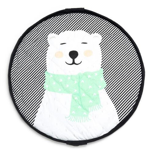 Play and Go Tapis d'Eveil/Sac de Rangement Soft Ours Polaire