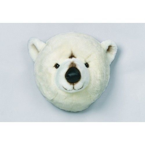 Wild and Soft Trophée Peluche Ours Blanc